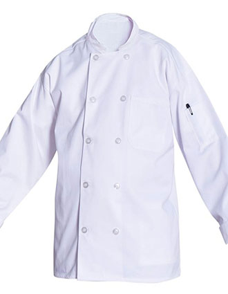 AS-213-Unisex Classic Chef Coat with Mesh Back
