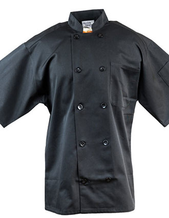 AS-215-Unisex Classic Short Sleeve Chef Coat