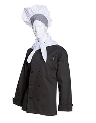 AS-222-Unisex Poplin Long Sleeve Chef Coat