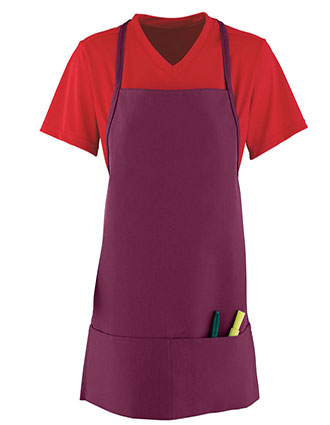 AU-2060-Augusta Sportswear Unisex Medium Apron With Pouch Pocket