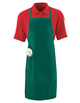 AU-2070-Unisex Long Apron With Pockets