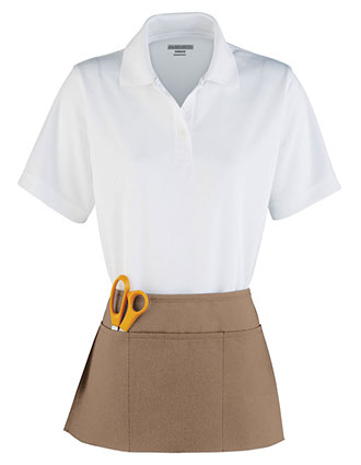 AU-2115-Unisex Waist Apron With Triple Divided Pouch Pocket
