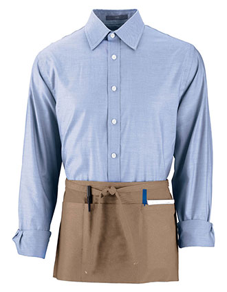 AU-2700-Augusta Sportswear Unisex Cafe Waist Apron With Triple Divided Pouch Pocket
