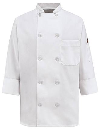 CH-0401WH-Women's Ten Pearl Button Chef Coat