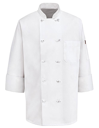 CH-0420WH-Unisex Executive Chef Coat