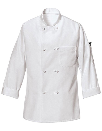 CH-0421WH-Unisex Ten Knot Button Chef Coat