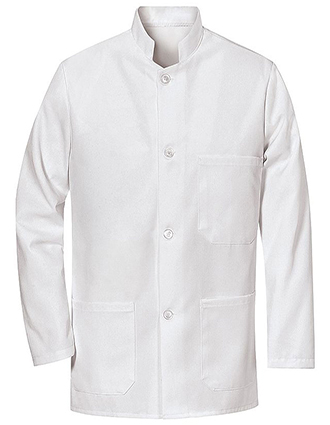 CH-4020WH-Chef Designs Unisex Military Bus Coat