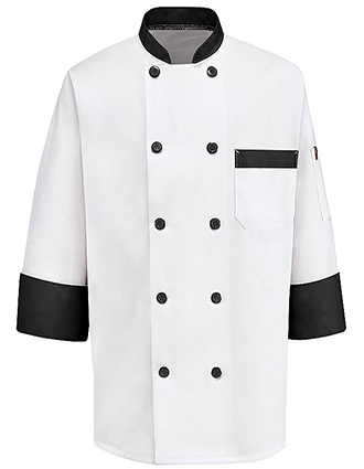CH-KT74BT-Chef Designs Unisex Garnish Chef Coat