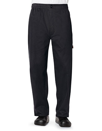 DI-DC14-Dickies Chef Men's Elastic Waist Traditional Baggy Zipper Fly Pant
