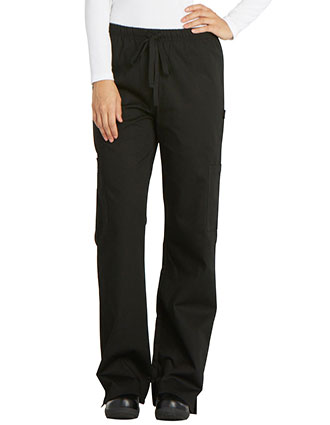 DI-DC17-Dickies Chef Women's Elastic Drawstring Low Rise Chef Pant