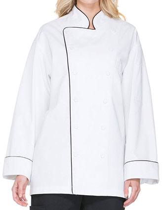 DI-DC42B-Dickies Chef Unisex Executive Chef Coat with Piping