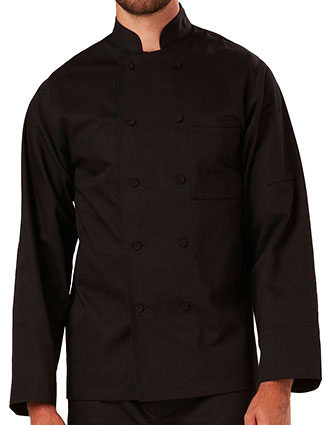 DI-DC43-Unisex Classic Fabric Buttons Chef Coat