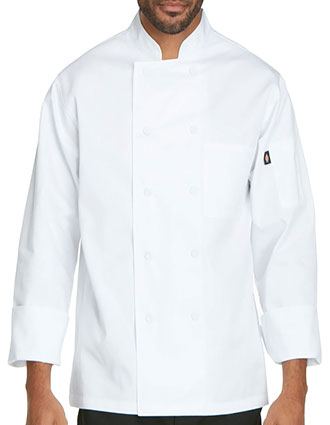 DI-DC44-Dickies Chef Unisex Classic Cloth Covered Button Chef Coat