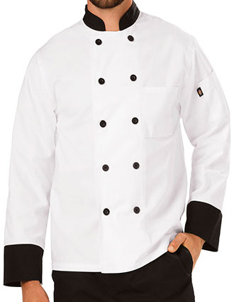 DI-DC46-Dickies Chef Unisex Classic Ten Button Chef Coat