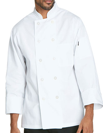 DI-DC47-Dickies Chef Unisex Classic Double Breasted Ten Button Chef Coat
