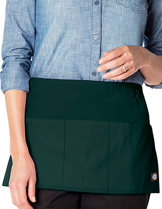 DI-DC56-Unisex Server Waist Apron With Three Pockets