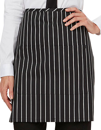DI-DC57-Unisex Half Bistro Waist Apron With Two Pockets