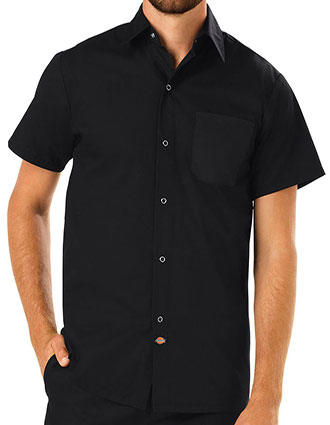 DI-DC60-Unisex Poplin Short Sleeve Cook Shirt
