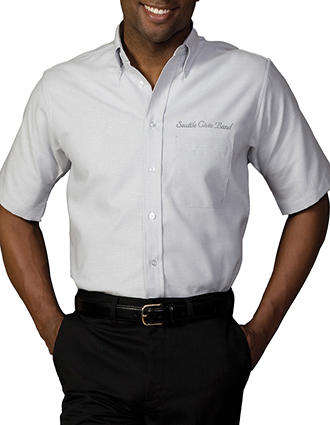 ED-1027-Mens Short Sleeve Oxford Shirt