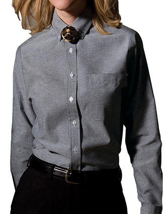 ED-1077-Mens Long Sleeve Oxford Shirt