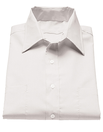ED-1110-Mens Two Pocket Broadcloth Short Sleeve Shirt