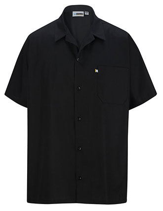 ED-1303-Men Button Front Cook Shirt