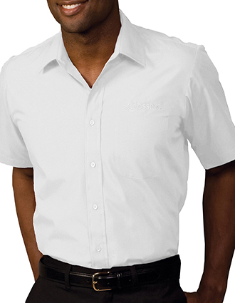 ED-1313-Mens Short Sleeve Value Broadcloth Shirt