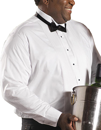 ED-1390-Edwards Men's Wing Collar Tuxedo Shirt