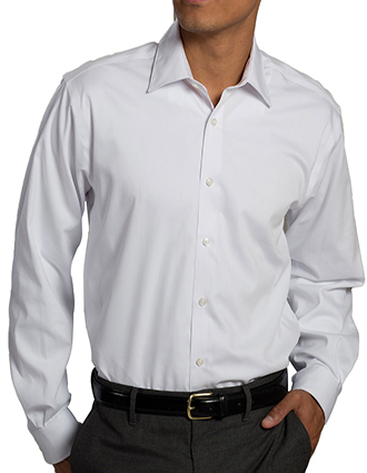 ED-1978-Edwards Men's Oxford Non Iron Point Collar Dress Shirt