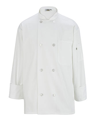 ED-3300-Edwards Unisex Eight Button Long Sleeve Chef Coat