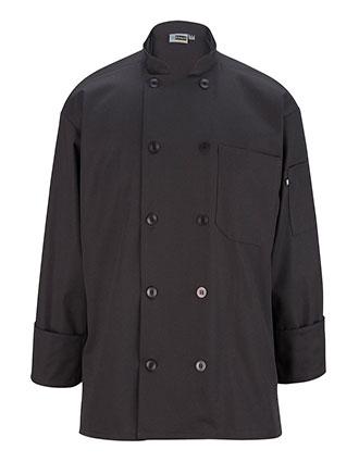 ED-3301-Edwards Unisex Ten Button Long Sleeve Chef Coat