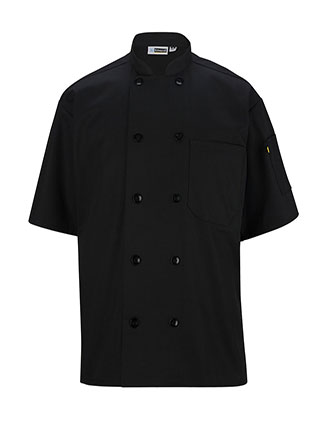 ED-3306-CASUAL 10 BUTTON SHORT SLEEVE CHEF COAT
