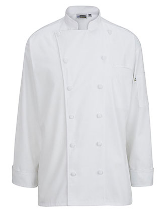 ED-3318-12 CLOTH BUTTON CLASSIC CHEF COAT