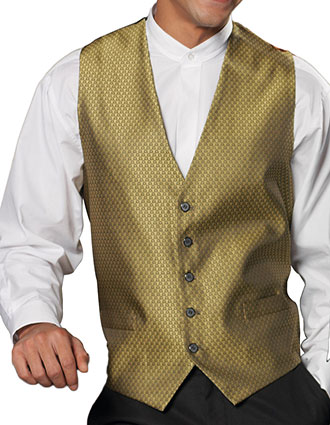 ED-4390-Edwards Men's Diamond Brocade Vest