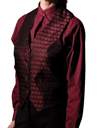 ED-4391-Edwards Men's Swirl Brocade Vest