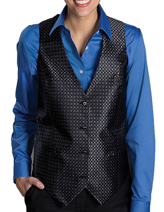 ED-4396-Edwards Men's Grid Brocade Vest