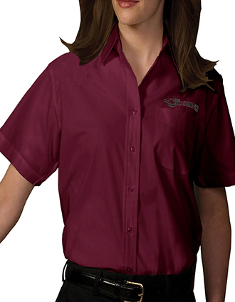 ED-5313-Womens Short Sleeve Value Broadcloth Shirt