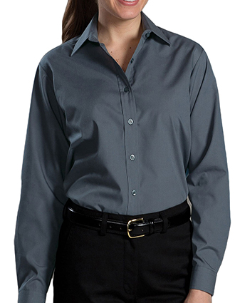 ED-5363-Womens Long Sleeve Value Broadcloth Shirt