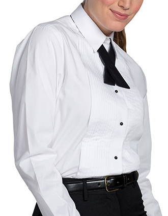 ED-5393-Edwards Women's Point Collar Tuxedo Shirt
