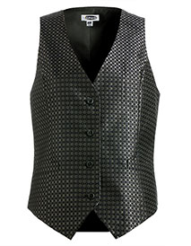 ED-7396-Women Grid Brocade Vest
