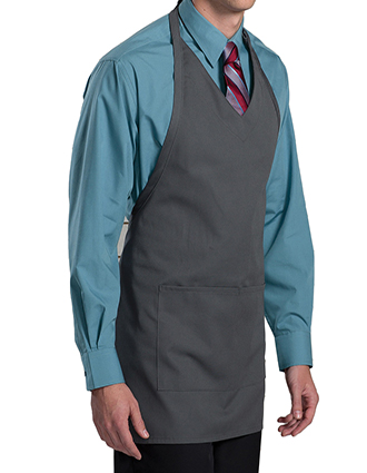 ED-9009-Unisex V-Neck Bib Apron With Two Pockets