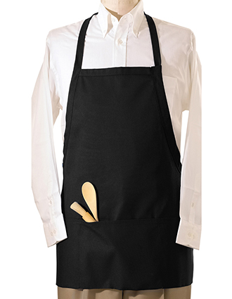 ED-9010-Unisex EZ Slide Bib Apron With Two Pockets
