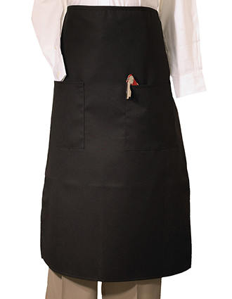ED-9012-Edwards Unisex Long Bistro Apron With Two Pockets