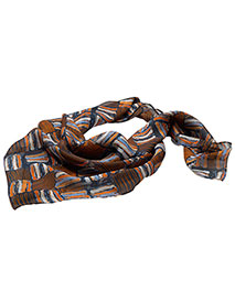 ED-SC53-Edwards Women's Checkerboard Chiffon Scarf