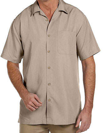 HA-M560-Harriton Men's Barbados Textured Camp Shirt