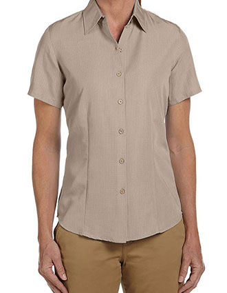 HA-M560W-Harriton Women's Barbados Textured Camp Shirt
