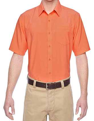 HA-M610S-Harriton Men Paradise Short Sleeve Performance Shirt