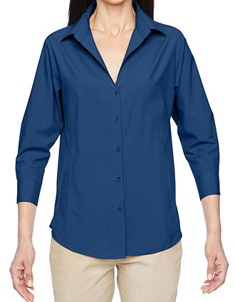 HA-M610W-Harriton Womens Paradise Three Quarter Sleeve Performance Shirt
