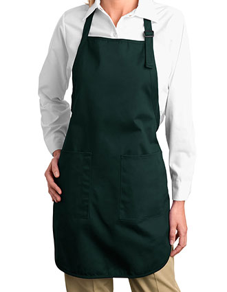 PO-A500-Unisex Full Length Apron With Pockets