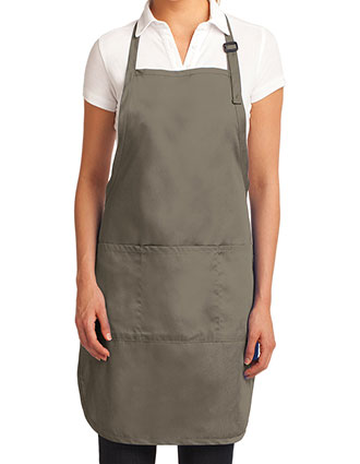 PO-A703-Unisex Easy Care Full-Length Apron with Stain Release